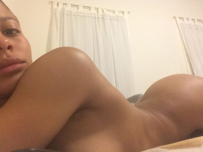 Sami Miro totally nude laying on stomach