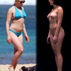 Scarlett Johansson clothed unclothed (2)