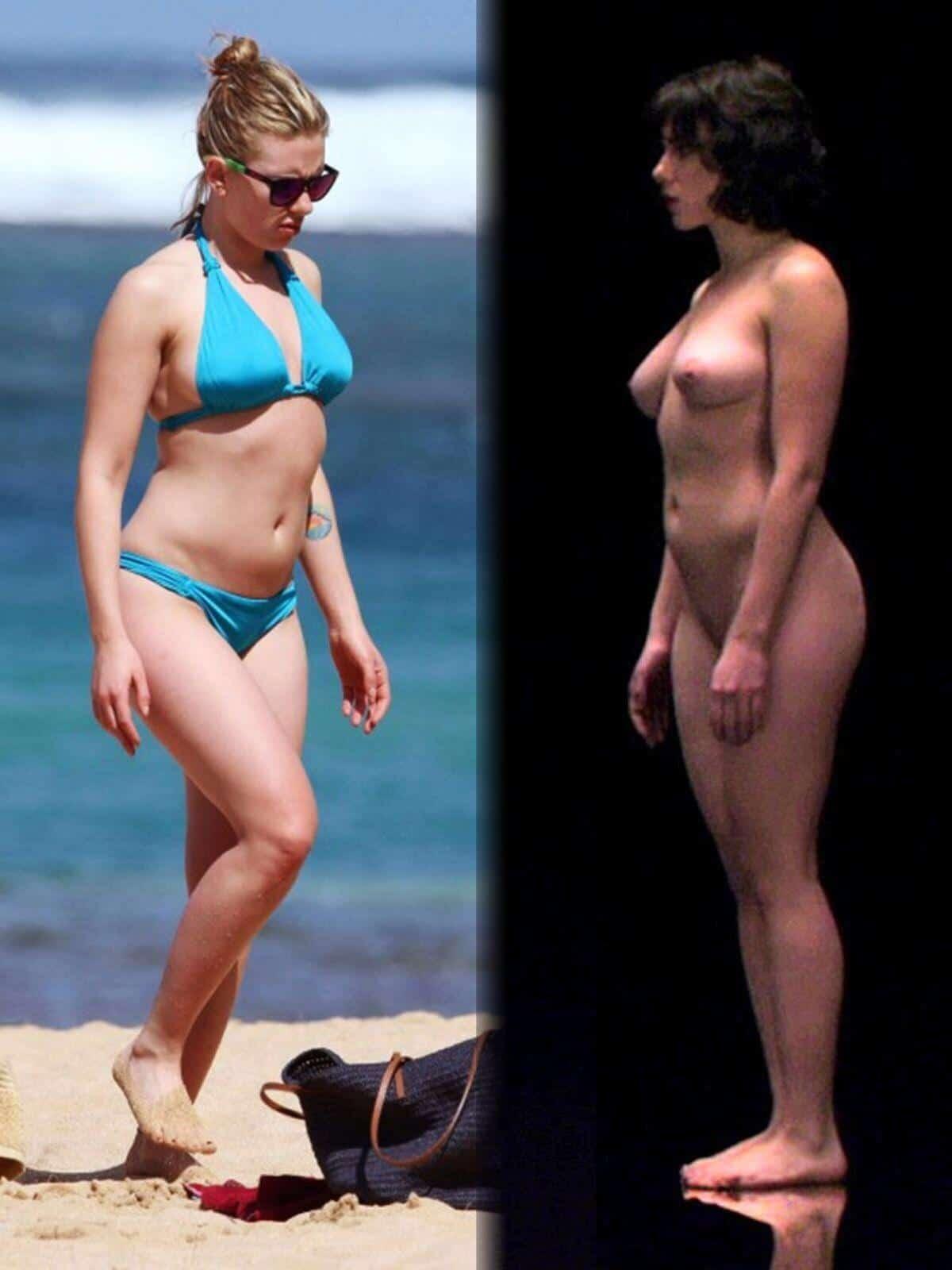 Scarlett johansson nude beach