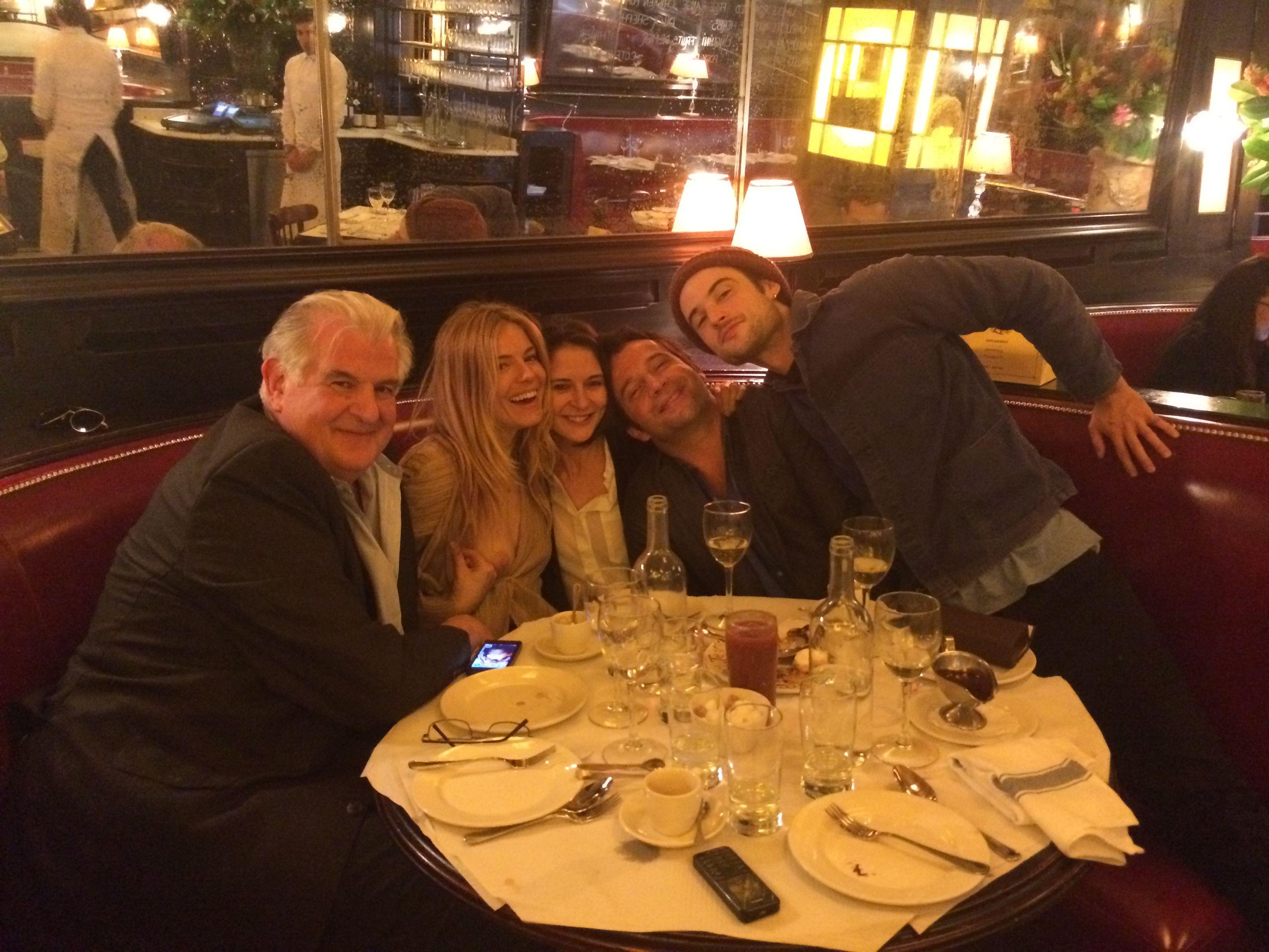 Sienna Miller showing her tit at restaurant
