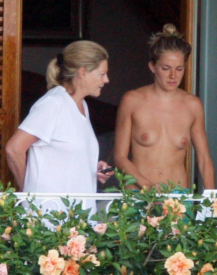 Sienna Miller tan titties on vacation