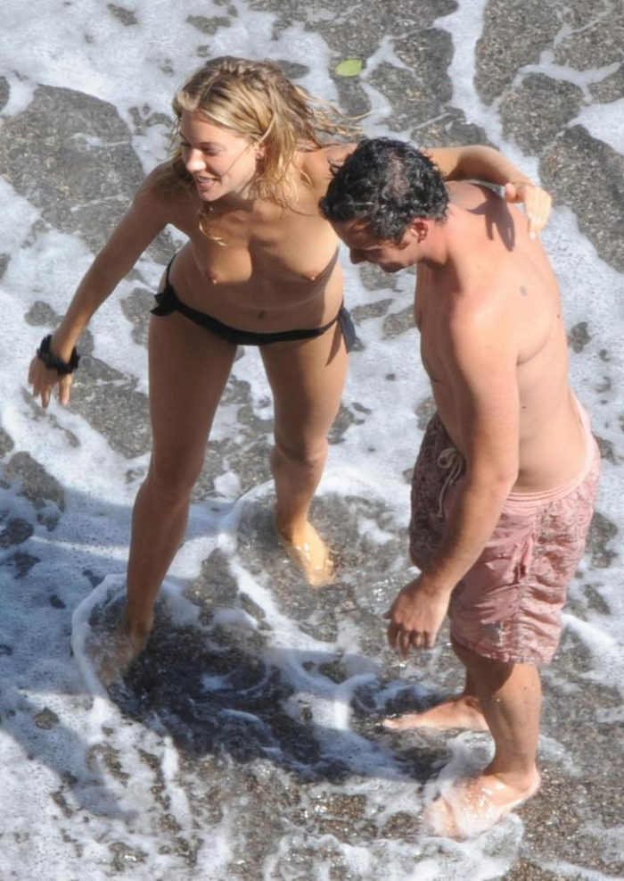 Sienna Miller topless pic view from above