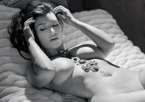 Black and white pic of Kim Kardashian for Playboy