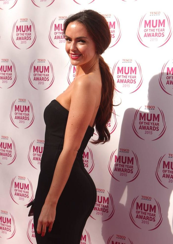 Jennifer Metcalfe backside in black dress