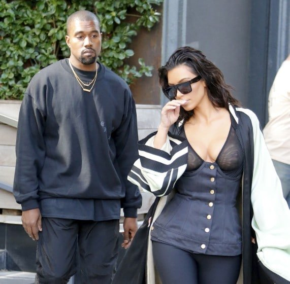 Kim Kardashian Nipples Exposed In See Through Top NYC (9)