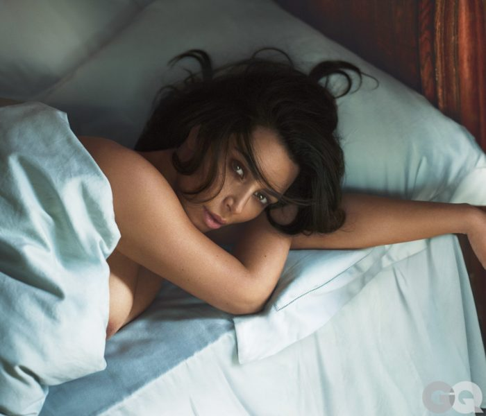 Kim Kardashian showing nipple in GQ shoot