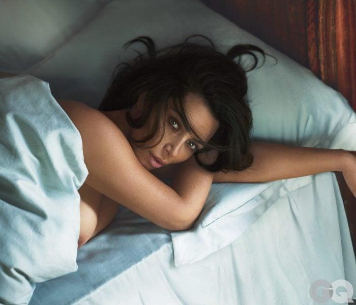 Kim Kardashian showing nipple in GQ shoot