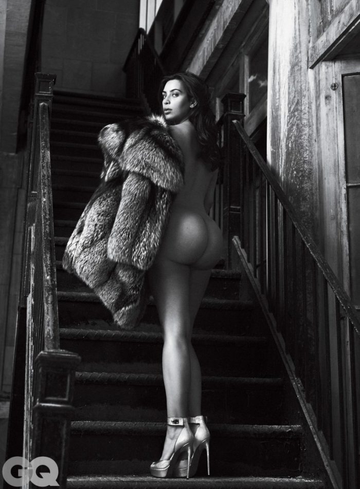 Kim Kardashian's naked butt for GQ