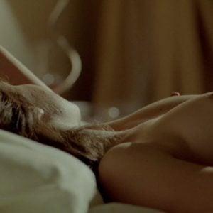 Melissa Benoist lying naked on bed