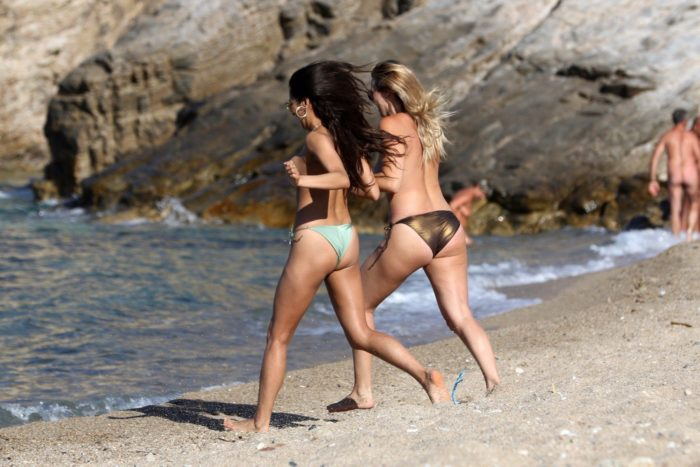 Shay Mitchell in Mykonos Greece on vacation with friends (6)
