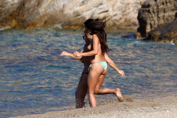 Shay Mitchell in Mykonos Greece on vacation with friends (7)