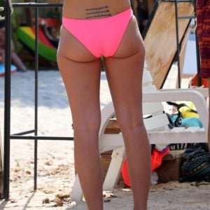 Tulisa ass cheeks and tramp stamp
