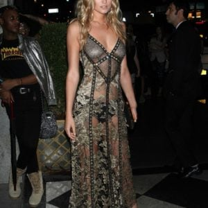 Toni Garrn see through dress at event (1)