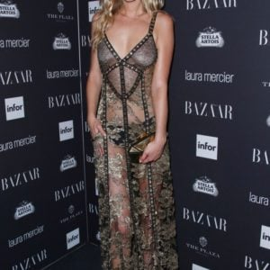 Toni Garrn see through dress at event (5)