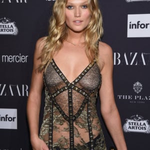 Toni Garrn see through dress at event (8)