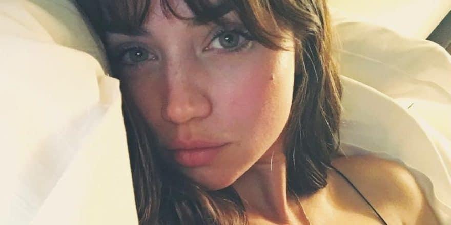 Ana de Armas selfie in bed
