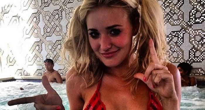 AJ Michalka selfie pigtails
