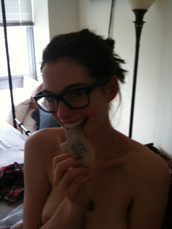 Anne Hathaway sexy leaks glasses